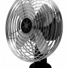 Front angle view upright fan