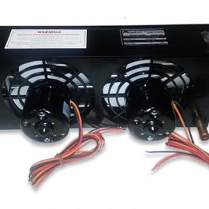 Back view of double fans