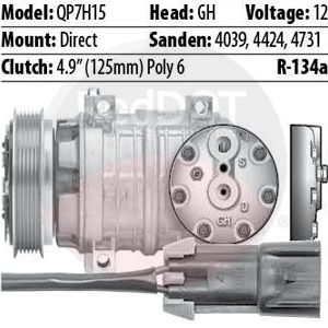 Product image Red Dot 75R89582Q compressor with specs