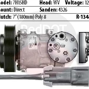 Product image Red Dot 75R9612 compressor with specs