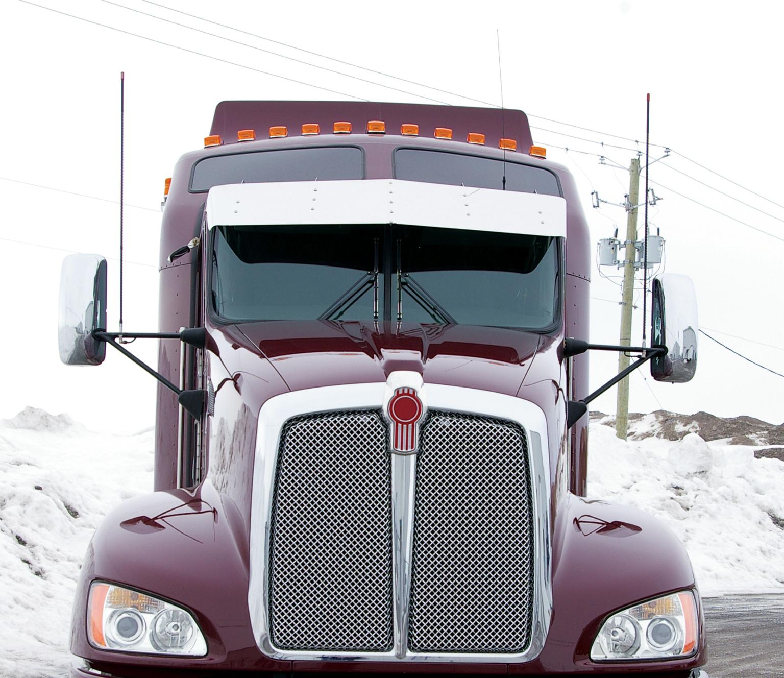 Semi Tractor Accessories : Kenworth sunvisor tsun k semi truck parts and accessories