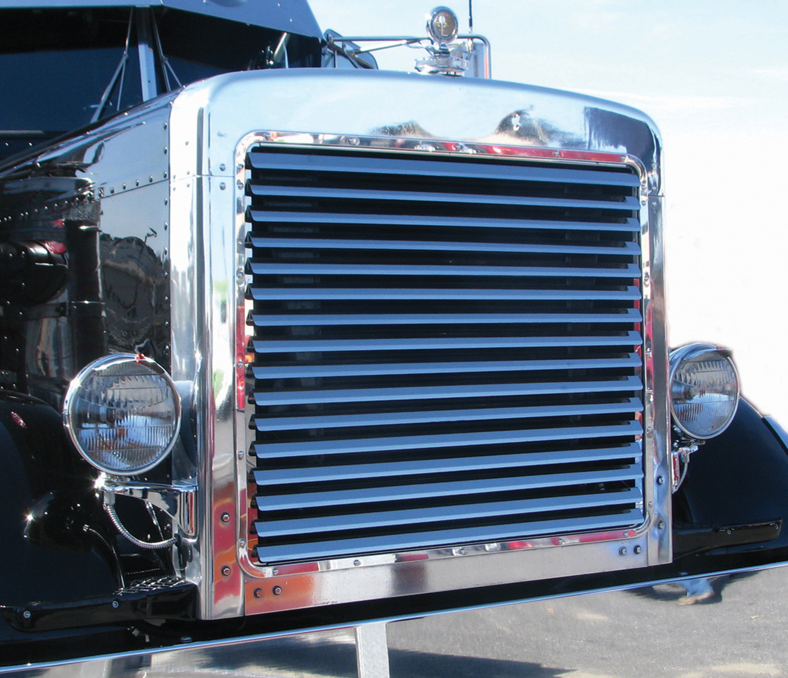 Semi Tractor Accessories : Peterbilt extended grill tp semi truck parts and