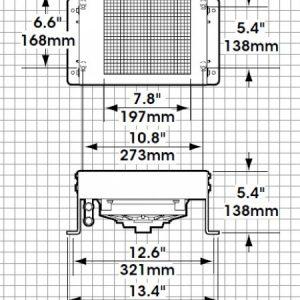 Diagram of dimensions