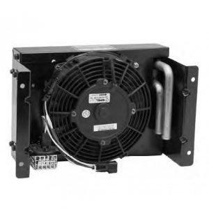 Back view with fan and manufacturer labels